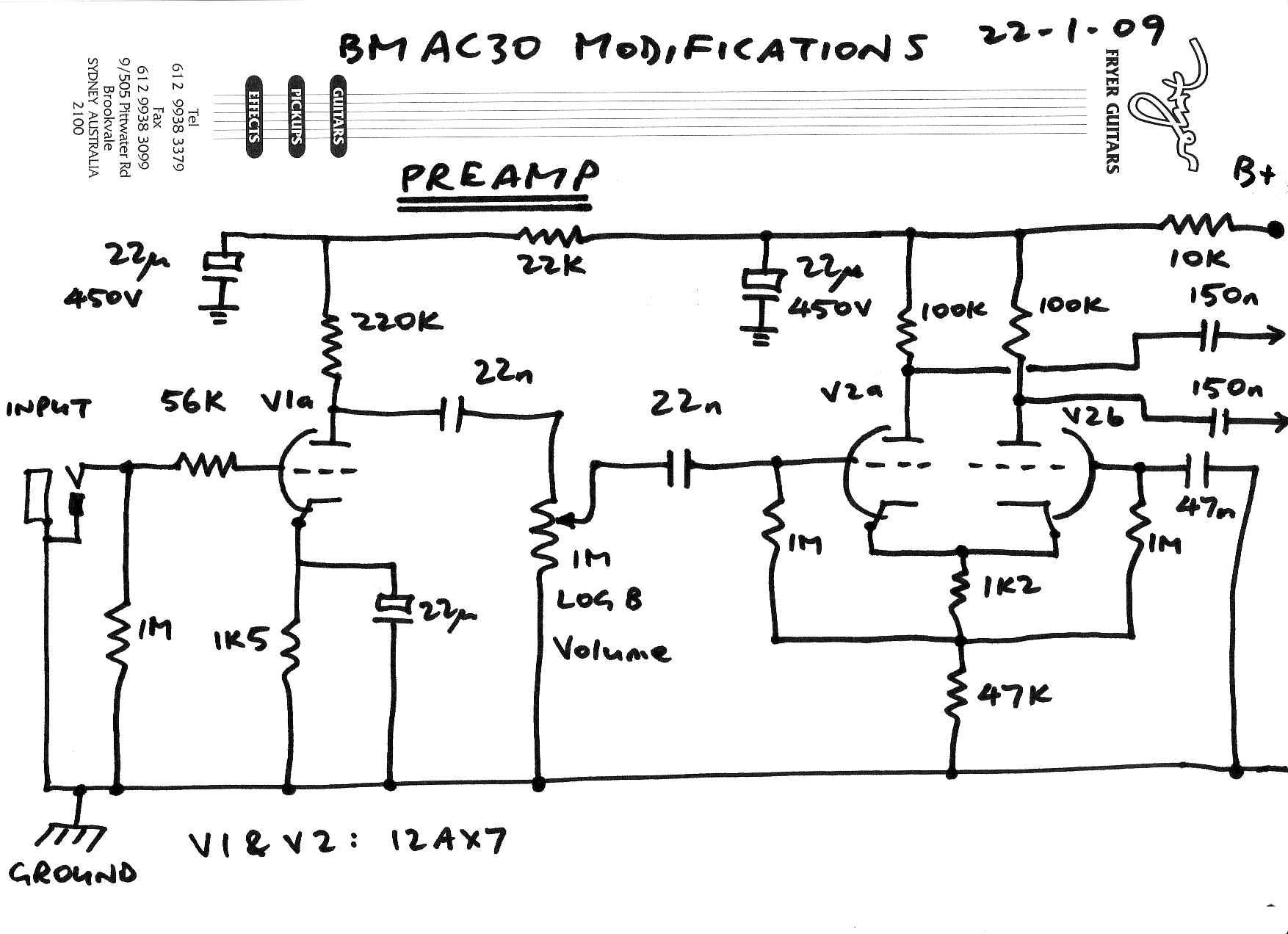 Vox Amp Schematics Great Design Of Wiring Diagram Guitar Ad50vt Schematic Mesa Boogie Studio Preamp Ac30 Top Boost