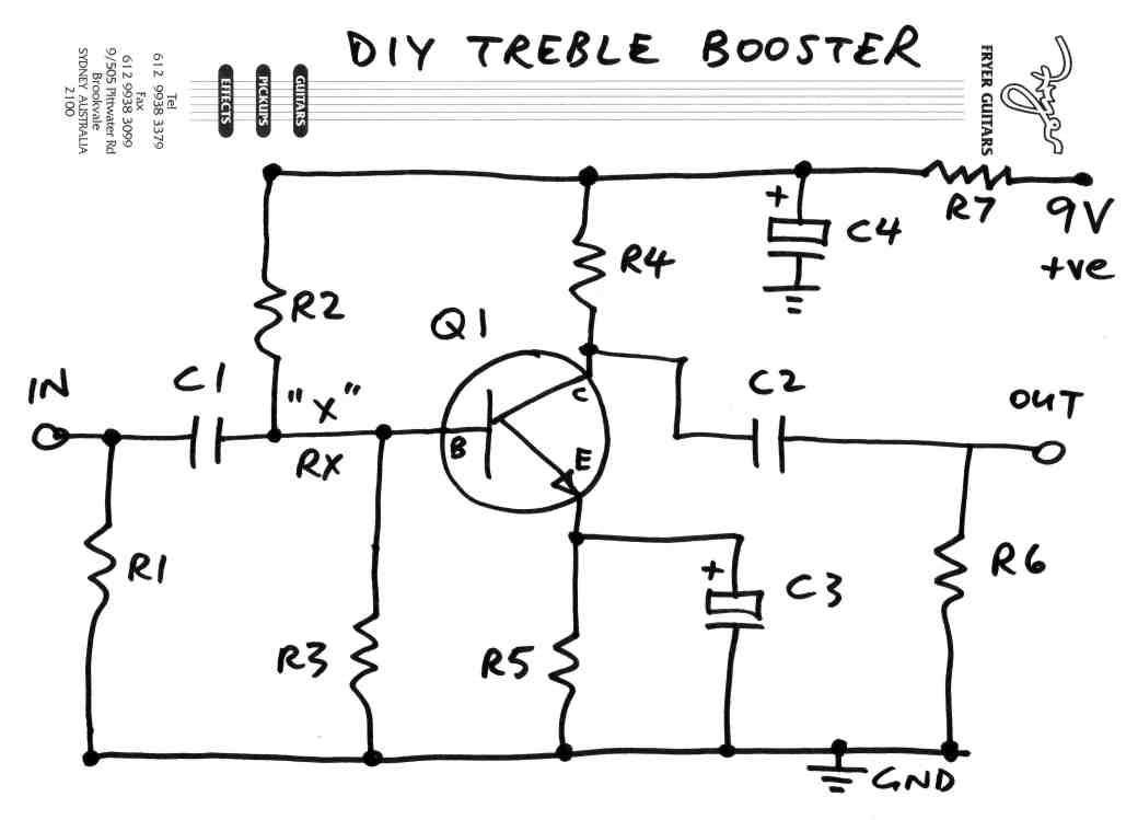 DIY Treble Booster schematic