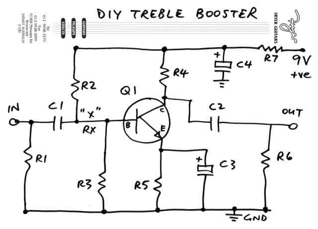 DIY Treble Booster schematic