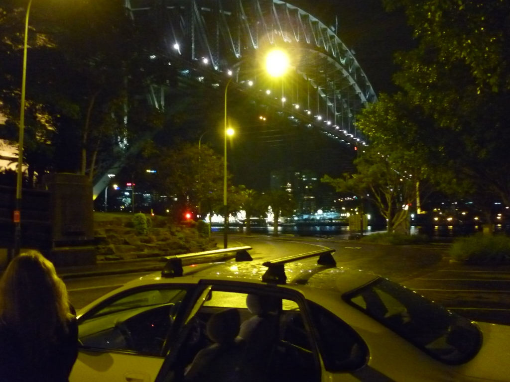 25th Aug 2014 circular quay and harbour bridge at midnight