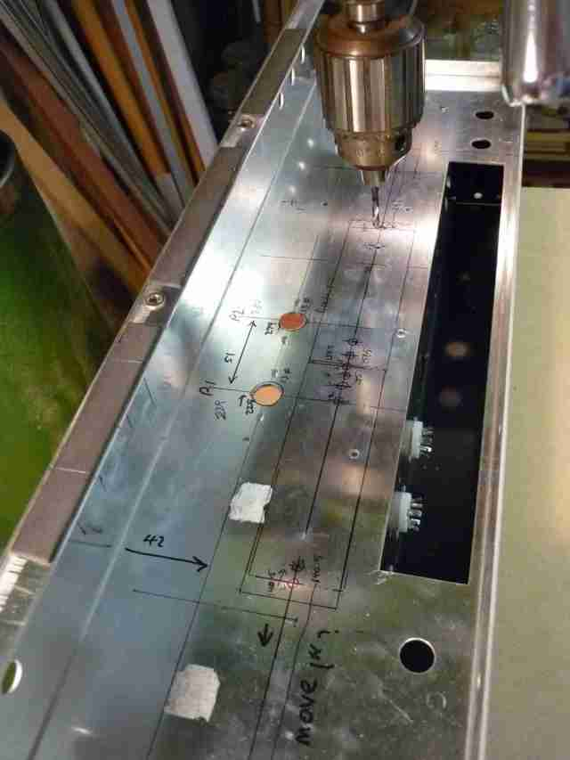 AC30BM preamp tagstrip holes drilling #4