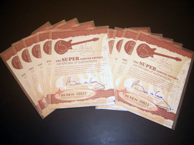 BM Super owners certificates