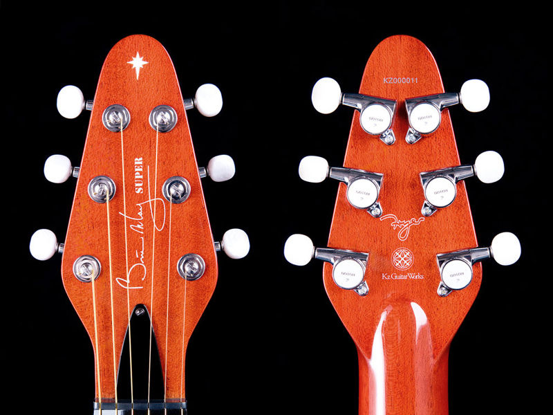 Brian May Super headstock front and rear