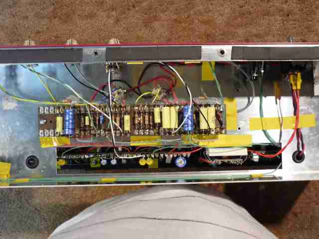 AC30BM view from rear of preamp and power amp underneath