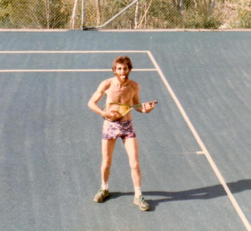 Romney Godden - anyone for tennis...or air guitar?