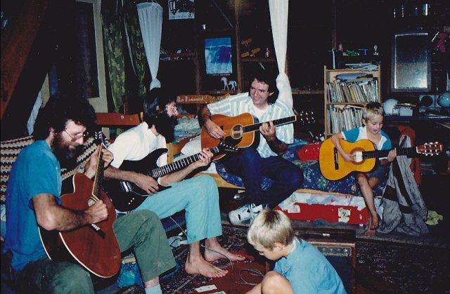 Rom, Dave Godden, Brian Godden and Dave's boys Ari and Romney Jnr