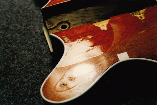 Red Special body Rustins experiments with overcoating