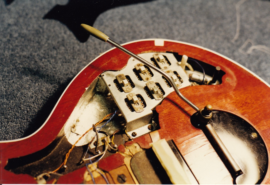 Red Special body and switchplate 9th Jan 1998