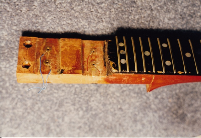 Red Special fingerboard and neck tongue 9th Jan 1998