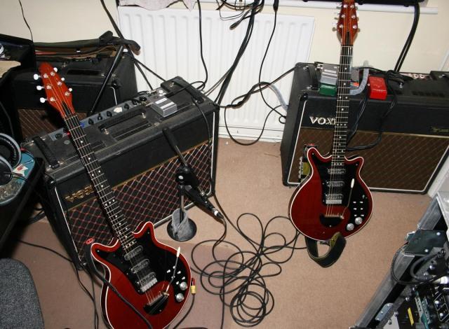 Red Special guitar, Treble Booster Super, Arbiter 70s Vox AC30