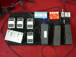 17th April 2016 WWRY Aust guitar rig pedalboard trials #1