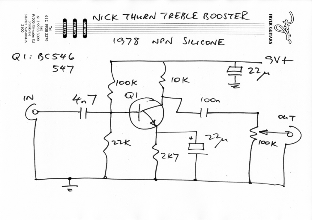 Nick Thurn 1978 Treble Booster