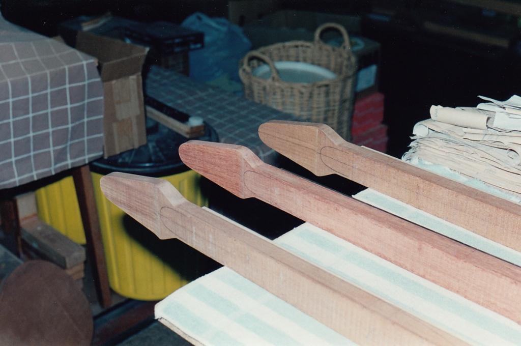 Backs of necks drawn up before shaping