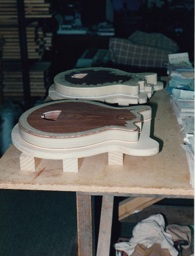 Binding being glued on the tops of the bodies