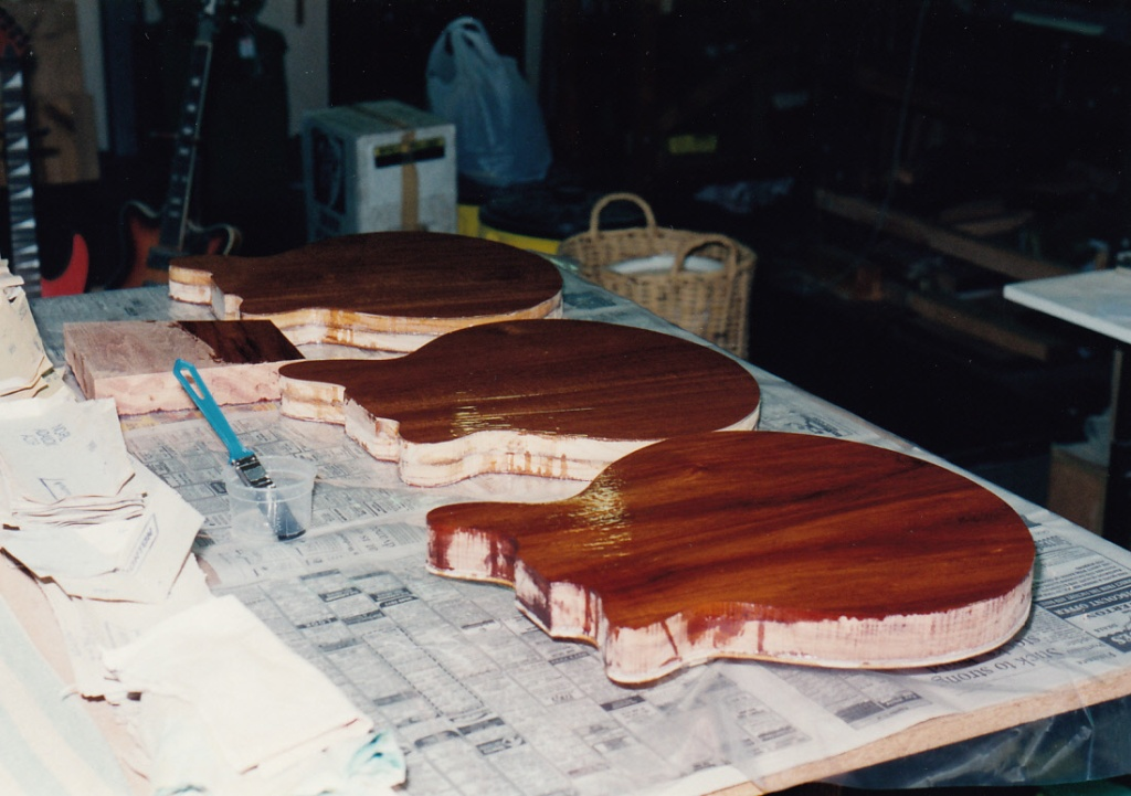 Coating veneer with West System epoxy resin