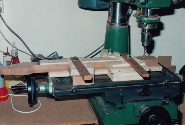 Sides of John's neck being milled straight and square