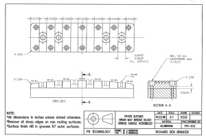 Fryer BM Bridge drawing FRY-012