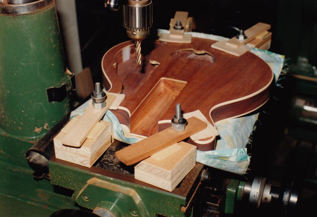 George Burns' body - neck pocket milling #2