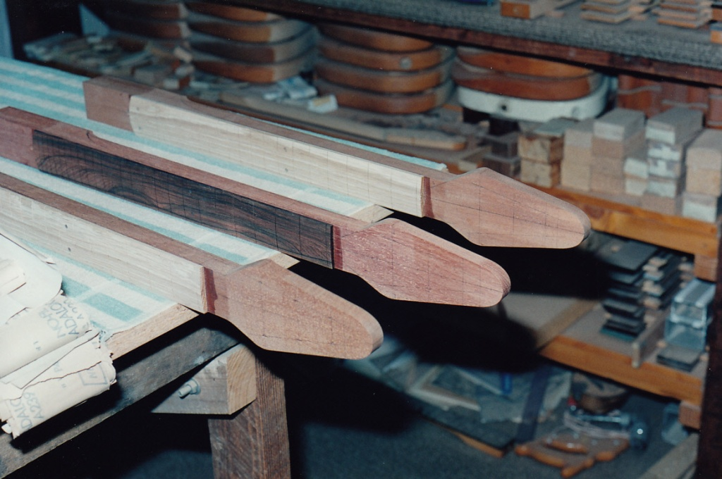 Headstocks drawn up for tuning heads