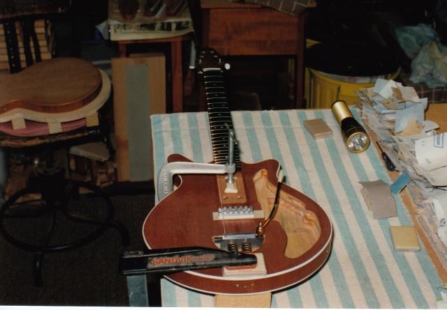 John neck and body setup before glueing