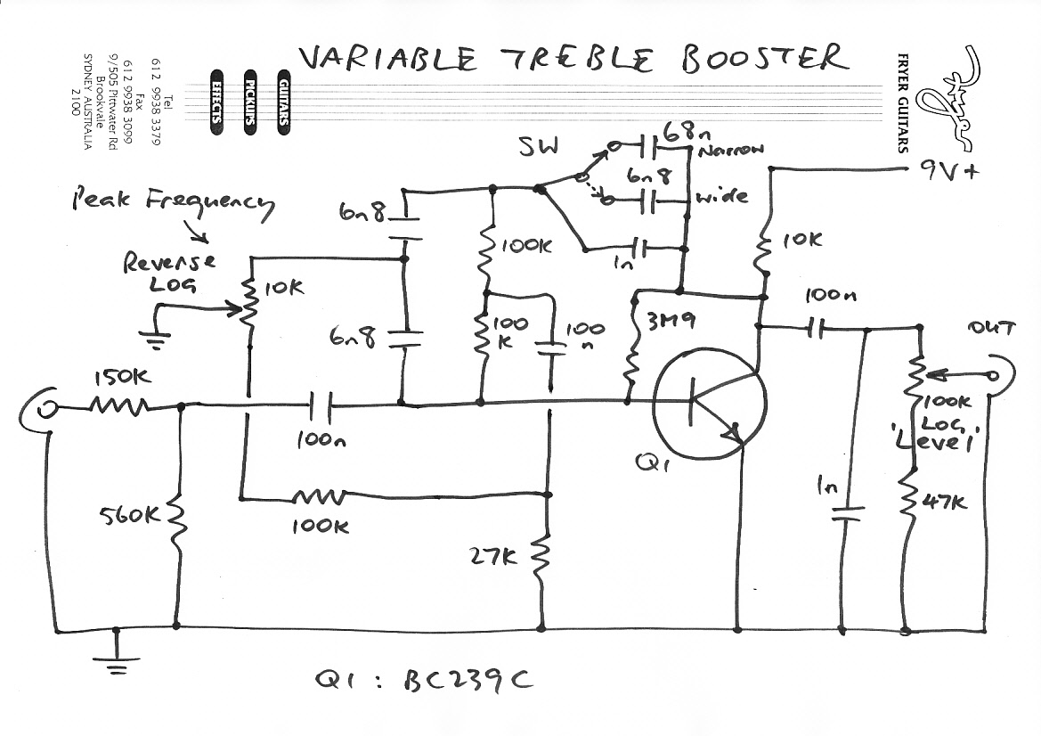 Https Brian May Fryer Treble Booster Schematic Guitar Pickup Wiring Diagrams Variable