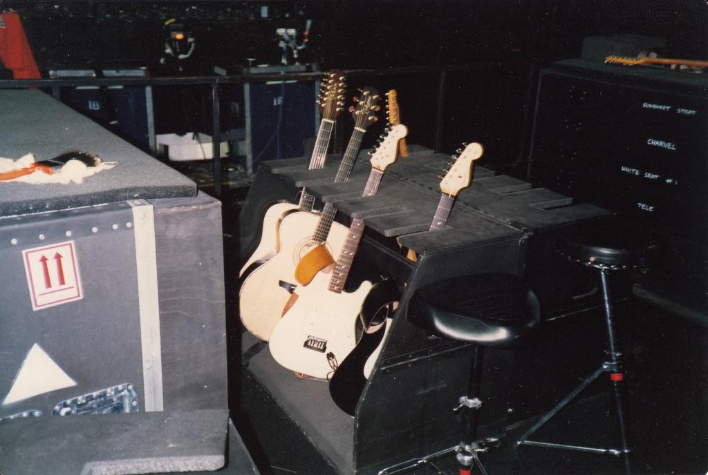 2nd guitarist's guitar rack